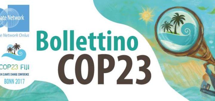 Italian Climate Network alla COP23: il bollettino