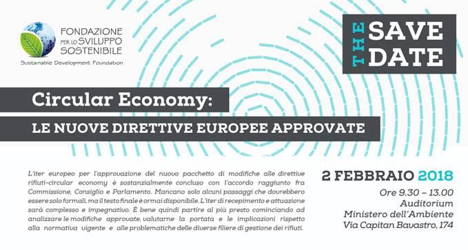 """Convegno """"Circular Economy: le Direttive europee appena approvate"""""""