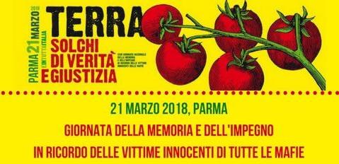 21 marzo: Giornata della Memoria e dell'Impegno. A Parma la manifestazione regionale di Libera