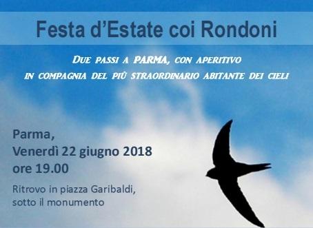 Venerdì 22 giugno: Festa d'Estate coi Rondoni
