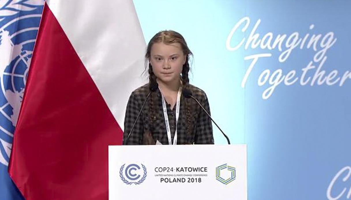 La voce di Greta contro il cambiamento climatico