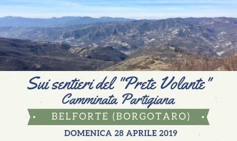 """28 aprile: Camminata Partigiana a Belforte di Borgotaro e presentazione del libro di Giovanni Sassi """"Il Prete Volante"""""""