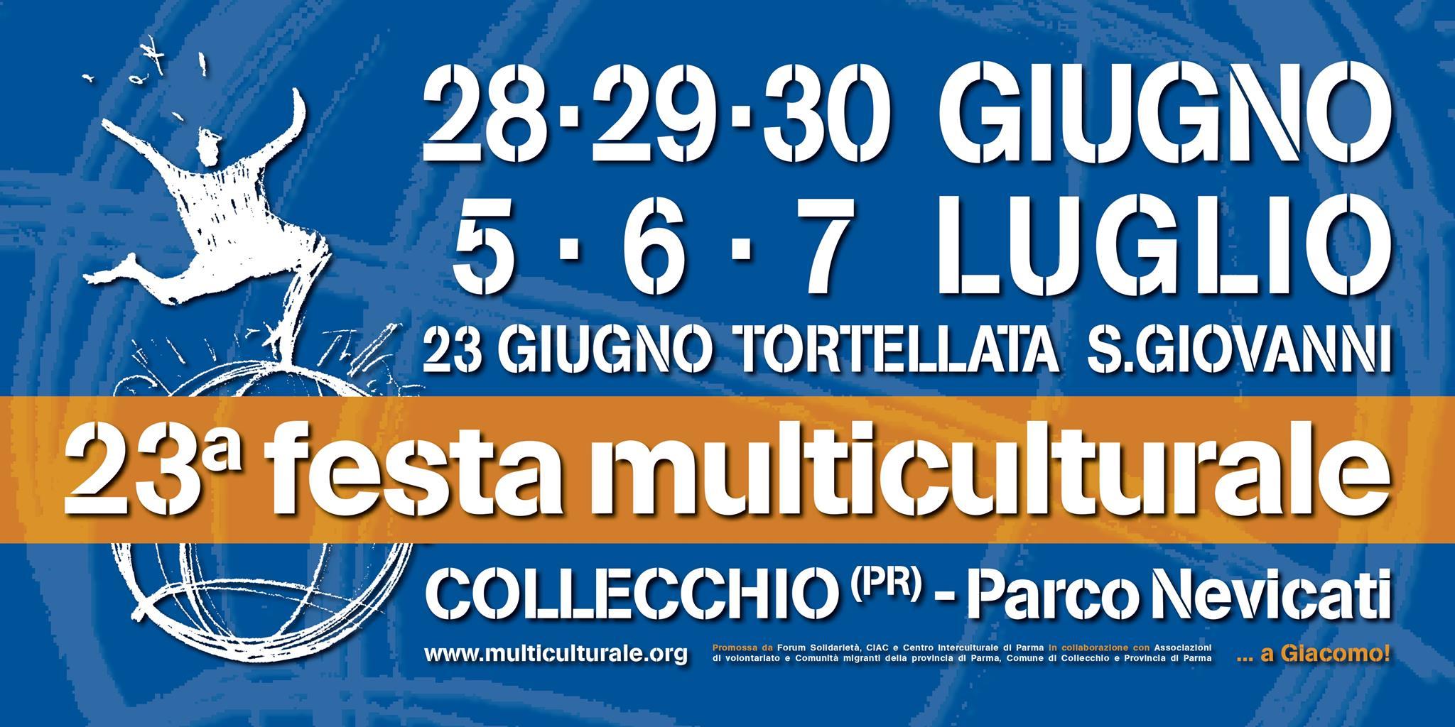 E' ancora Festa Multiculturale: dal 5 al 7 luglio a Collecchio (PR)