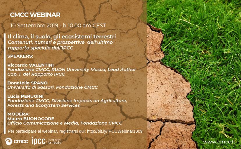 Il clima, il suolo, gli ecosistemi terrestri. Contenuti, numeri e prospettive dell'ultimo rapporto speciale dell'IPCC
