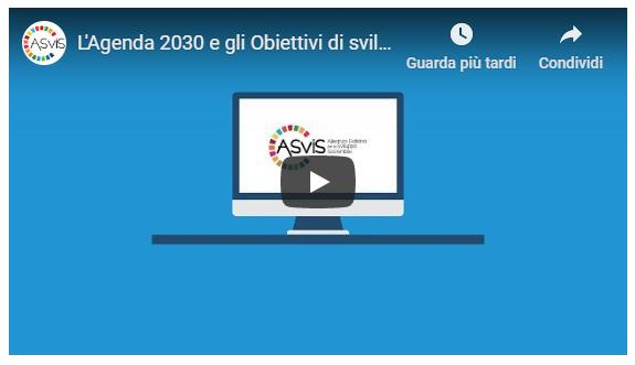 """Corso e-learning """"L'Agenda 2030 e gli obiettivi di sviluppo sostenibile"""""""