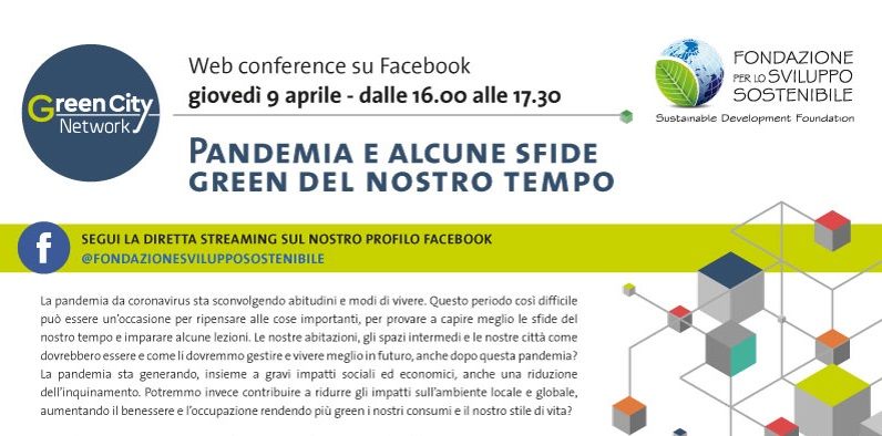 Coronavirus e le sfide green, web conference il 9 aprile