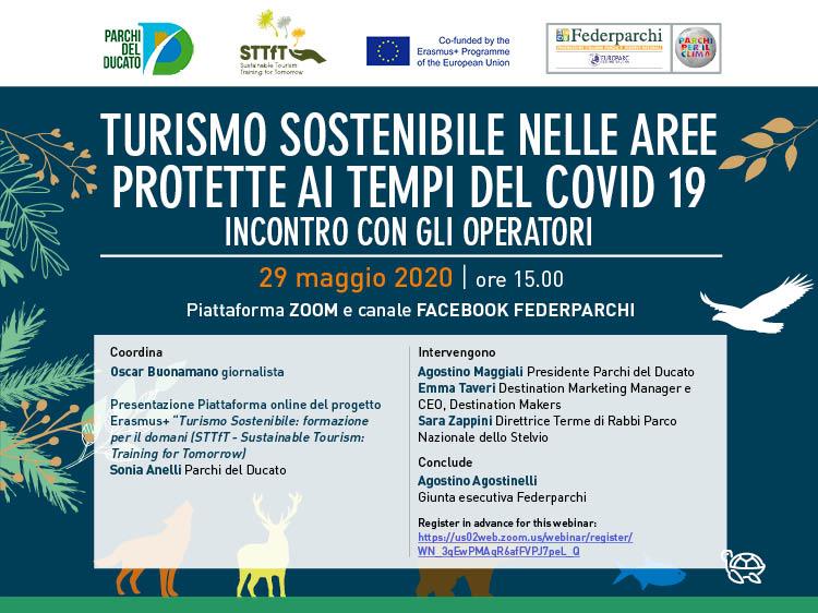 Turismo sostenibile nelle aree protette ai tempi del covid19, webinar venerdì 29 ore 15