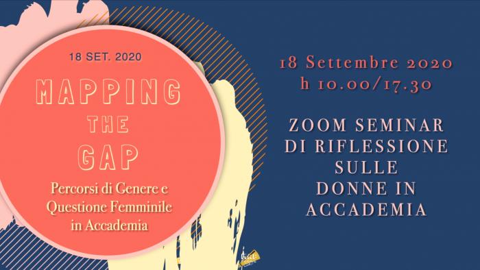 18 settembre: MAPping the GAP – Percorsi di genere e questione femminile in accademia