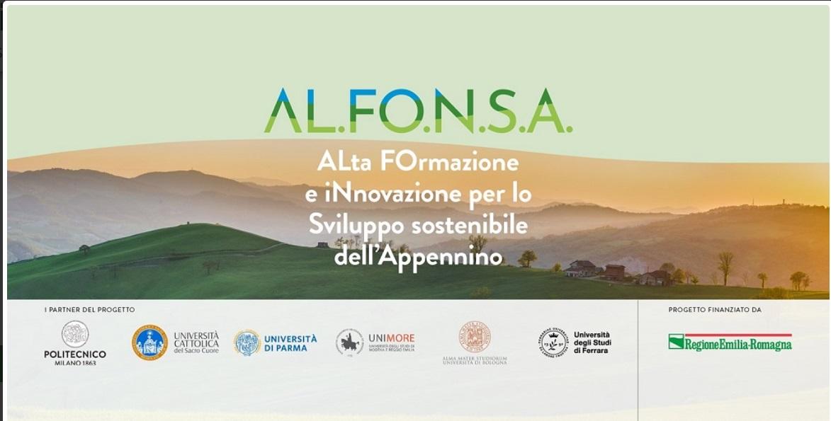 Parte il Progetto AL.FO.N.S.A – Ciclo di webinar gratuiti sul rilancio dell'Appennino