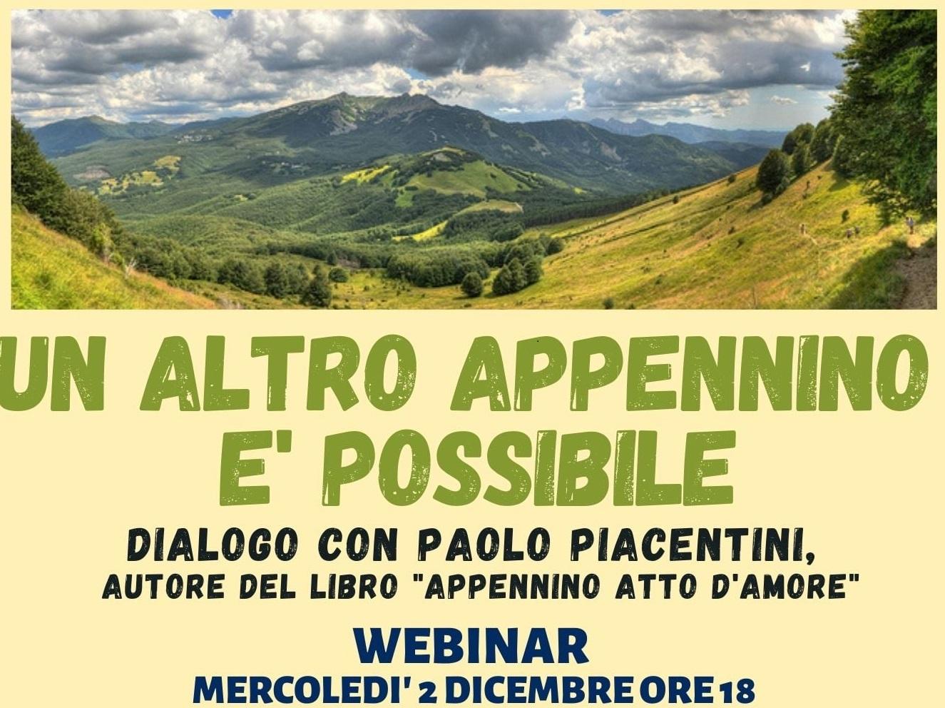 Un altro Appennino è possibile? Mercoledì 2 dicembre dialogo con Paolo Piacentini