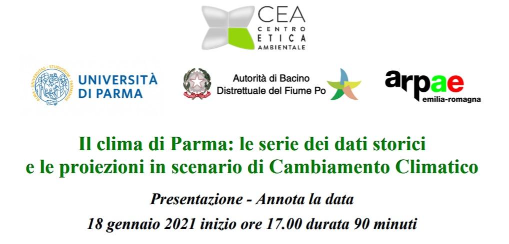 Il clima di Parma: le serie dei dati storici e le proiezioni in scenario di Cambiamento Climatico
