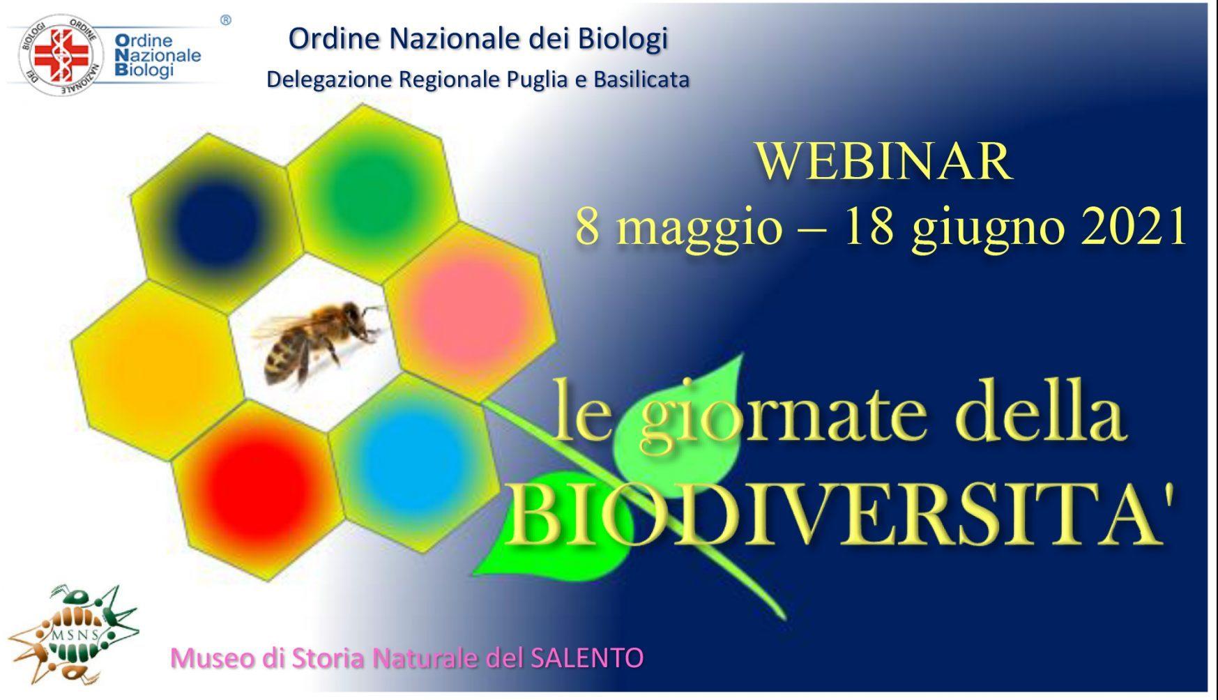 Le giornate della biodiversità: ciclo di webinar dall'8 maggio al 23 giugno