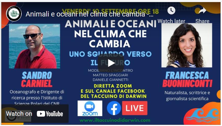 [VIDEO] Animali e Oceani nel clima che cambia. Uno sguardo verso il futuro