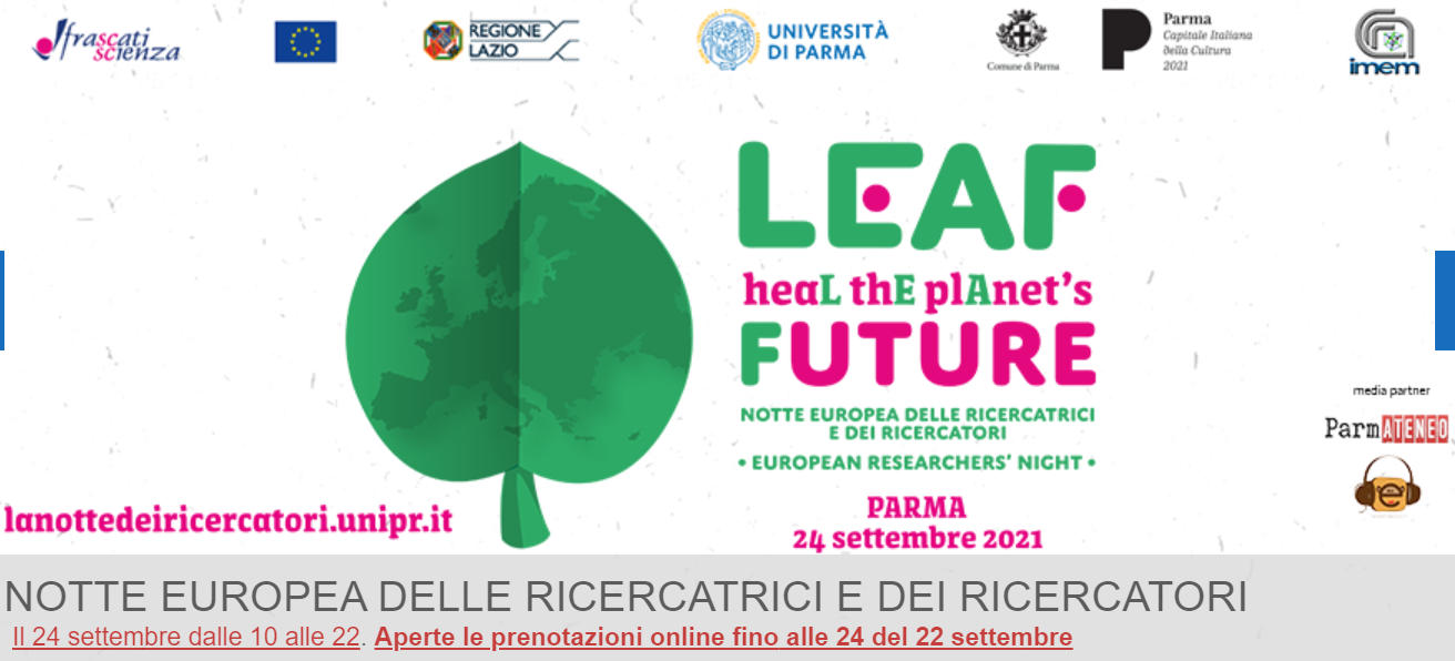 Università di Parma: 24 settembre, Notte europea delle Ricercatrici e dei Ricercatori
